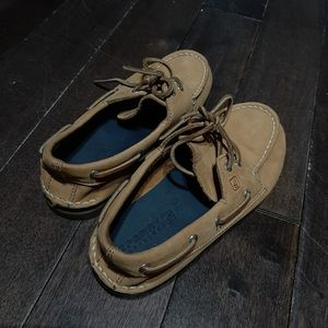Sperry Authentic Original Leather Boat Shoes 3 Boy